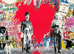 Juxtapose by Mr. Brainwash - Original on Paper sized 30x22 inches. Available from Whitewall Galleries